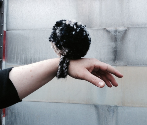 Get your own Pom-Pom wrist-let!  Make your own or have me make one!