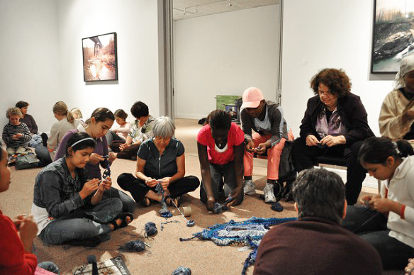 Community Crochet at Agnes Scott College, Atlanta