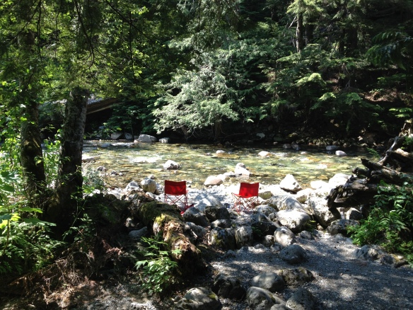 On the banks of Denny Creek