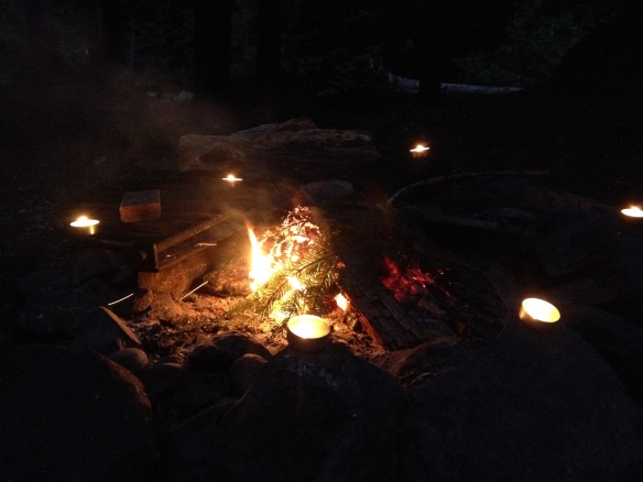 Our hearth, we'll do night-time fire ceremonies with talismans we make.